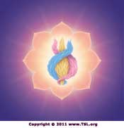 The threefold flame in the Secret Chamber of the Heart Chakra
